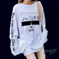 RM 'MONO' BTS Памучна Блуза...